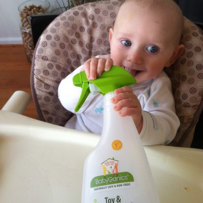 FOR WHAT IT'S WORTH #1:  BabyGanics Toy & High-Chair Cleaner