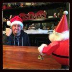 adrian shakes fist at santa