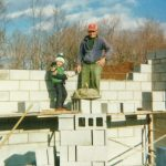 Bruce and Adrian laying foundation