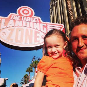 Daddy and Ava at Target Landing Zone