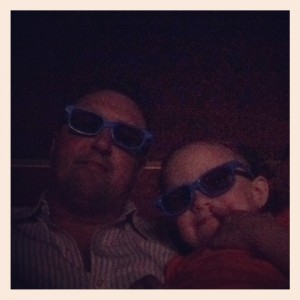 Daddy and Ava in 3d at Planes