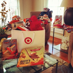 Target gift explosion for Planes