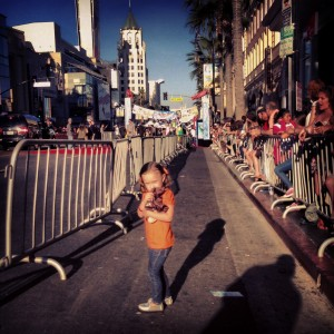 Ava walks Hollywood Blvd.
