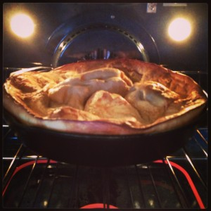 Skillet pancake in oven