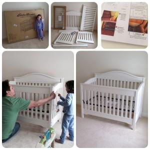Eddie Bauer Target crib assembly