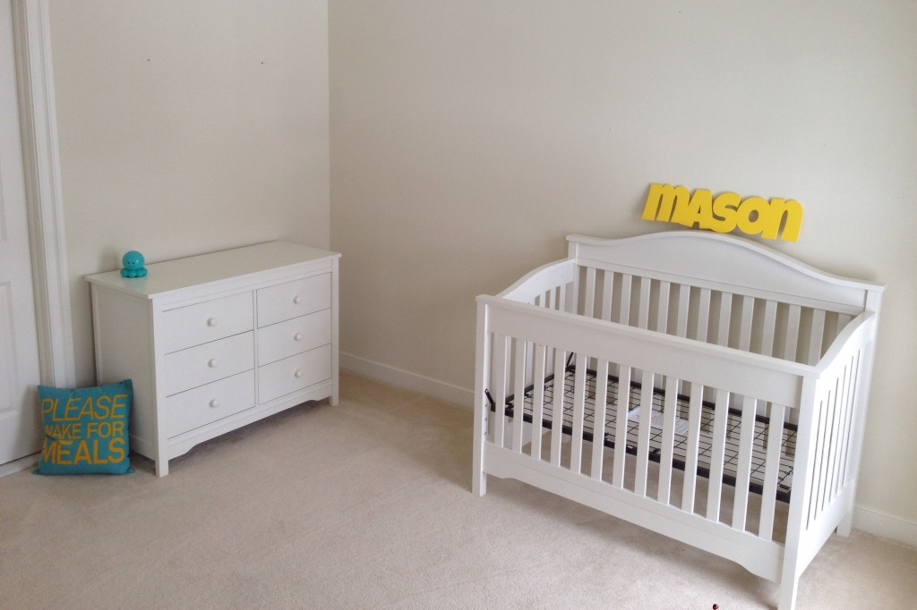 Eddie Bauer Target finished crib and dresser