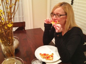 Jen chows down on Ristorante