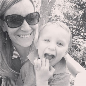 Mommy and Charlie on Mothers Day picnic