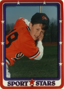 Adrian playing for Orioles in 1989