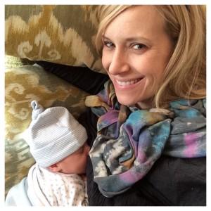 Jenny breastfeeding Charlie