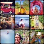 Summer collage of kids