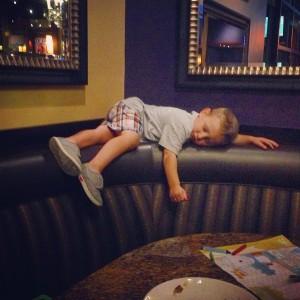 Charlie asleep at BJs