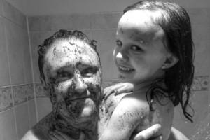 Dad and Ava use frank scrub