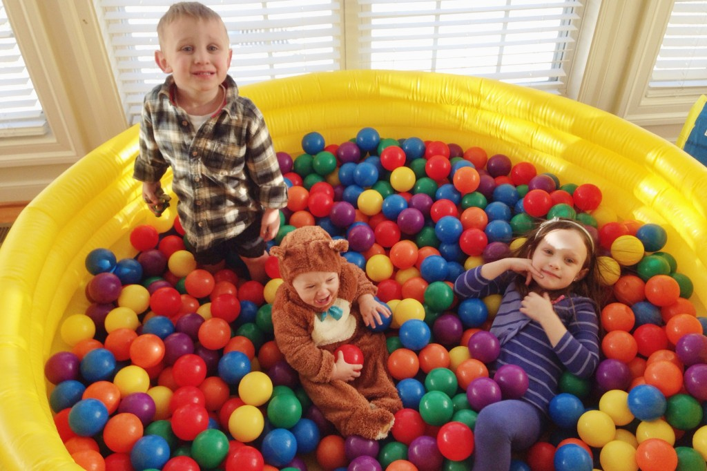 Kids in the ball pit