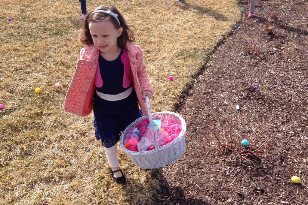 Ava hunting Easter Eggs