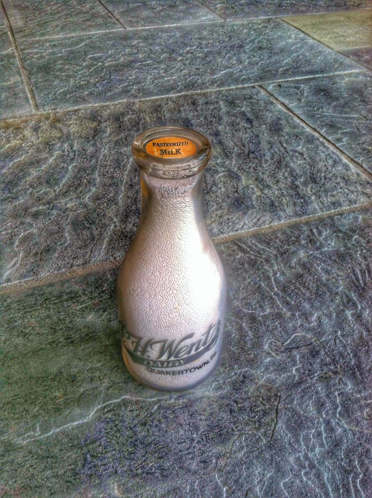 Wentz milk bottle full