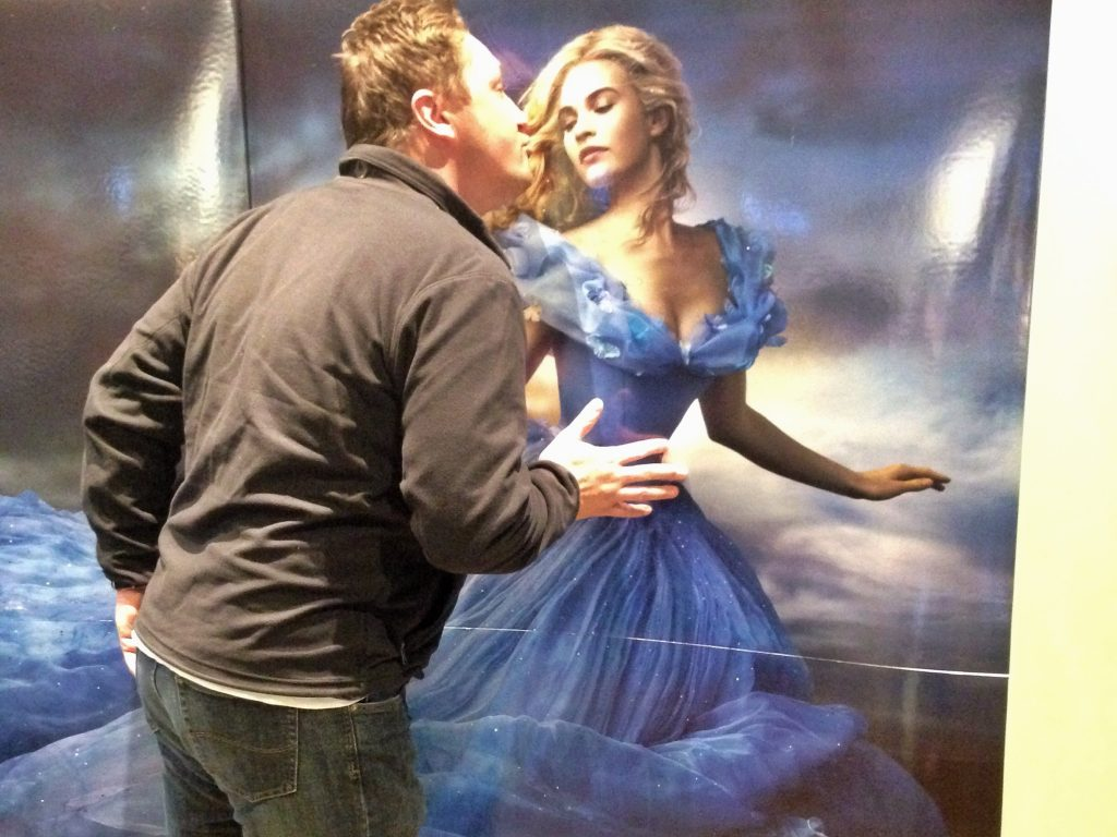 Adrian kissing Cinderella