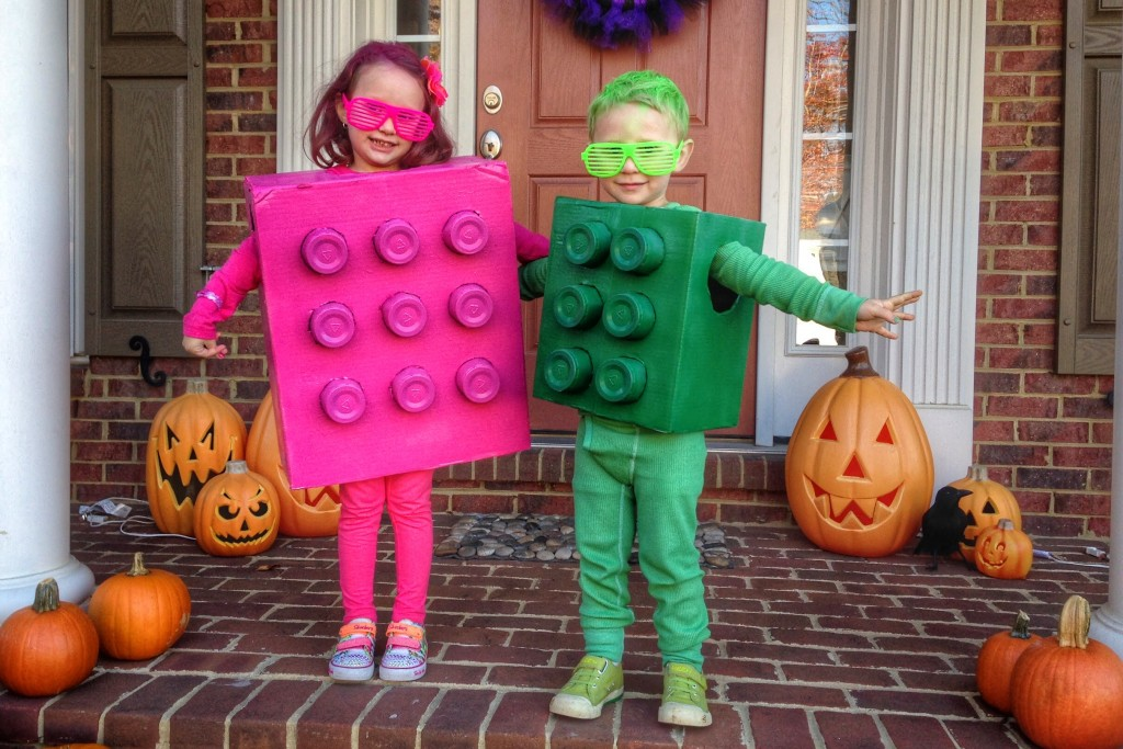 Ava and Charlie as Legos