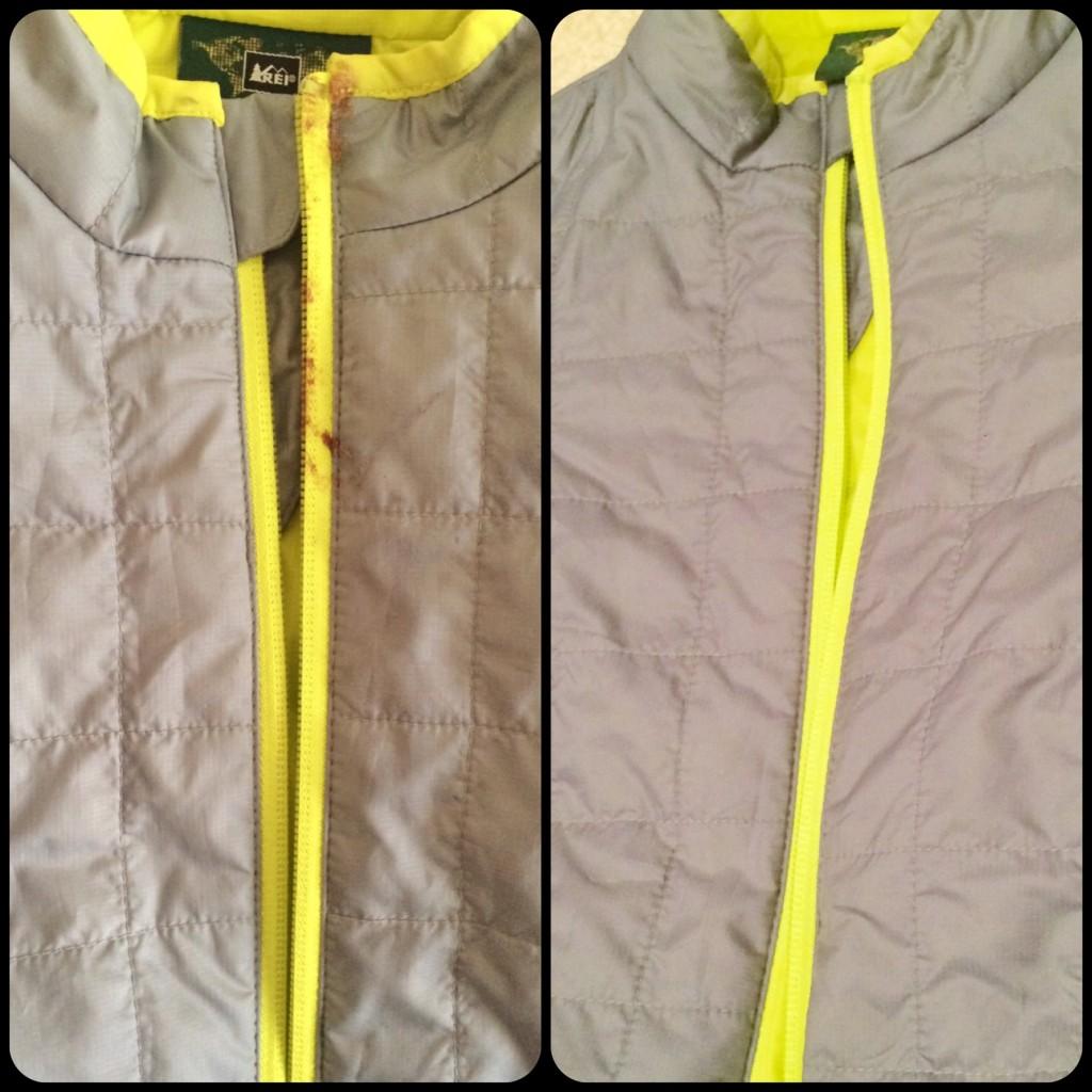 REI jacket SHOUT treated