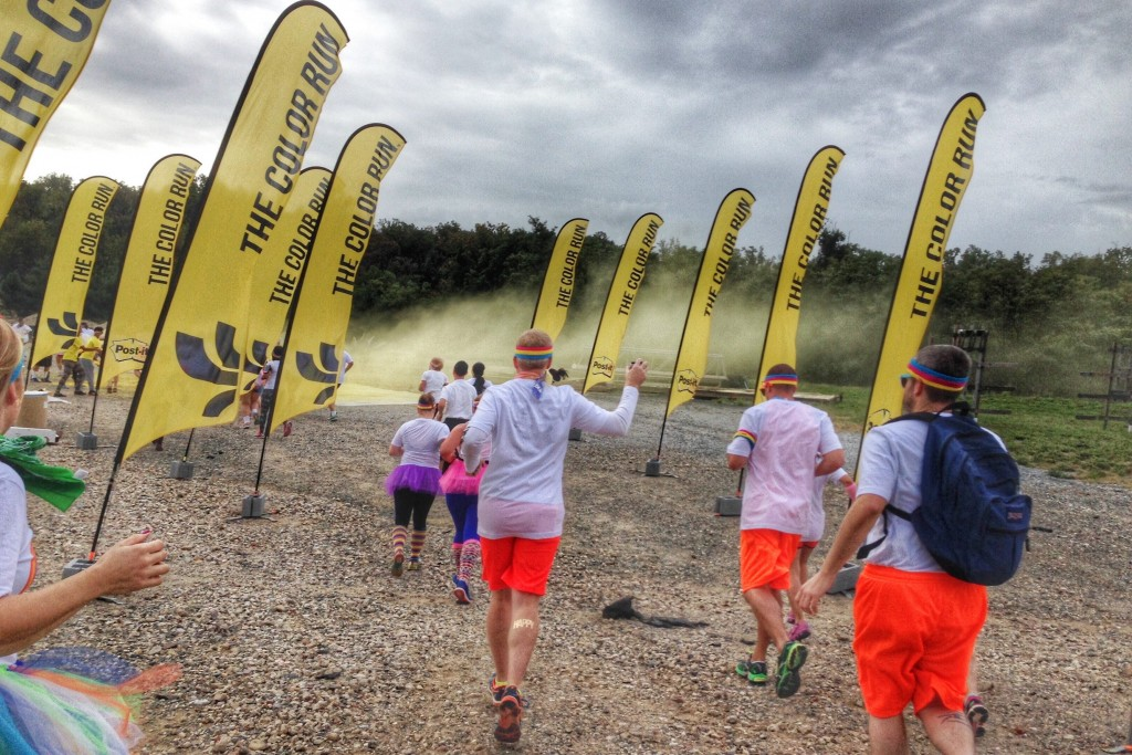 The Color Run yellow throw