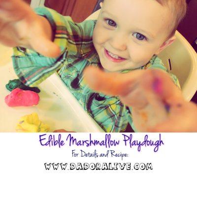 Edible Marshmallow Playdough.