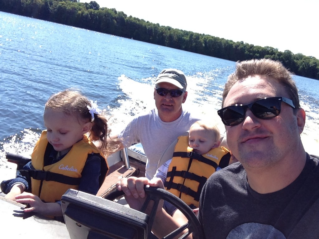 Adrian Dad and kids on the lake