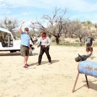 Adrian roping in Sonoran Desert