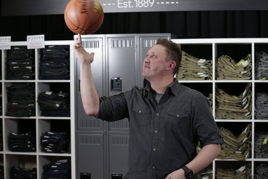 Adrian spinning basketball at LEE