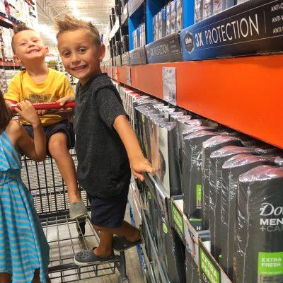 Cruising Costco+Kids for Dove Men+Care.