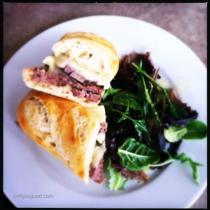NY Strip with Brie Sandwich