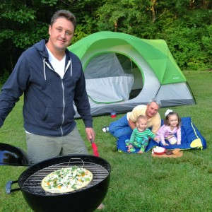 adrian dad and kids camping