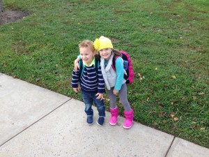 Ava and Charlie in Crocs