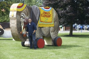 Adrian outside of FP with elephant