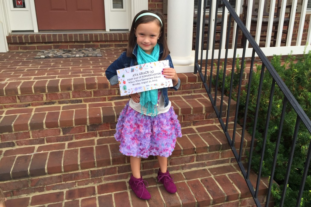 Ava First Day picture wearing TCP