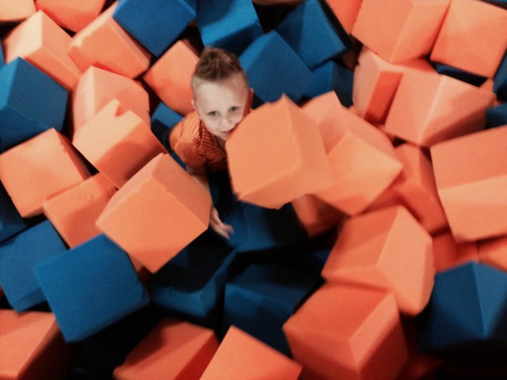 Charlie in foam pit
