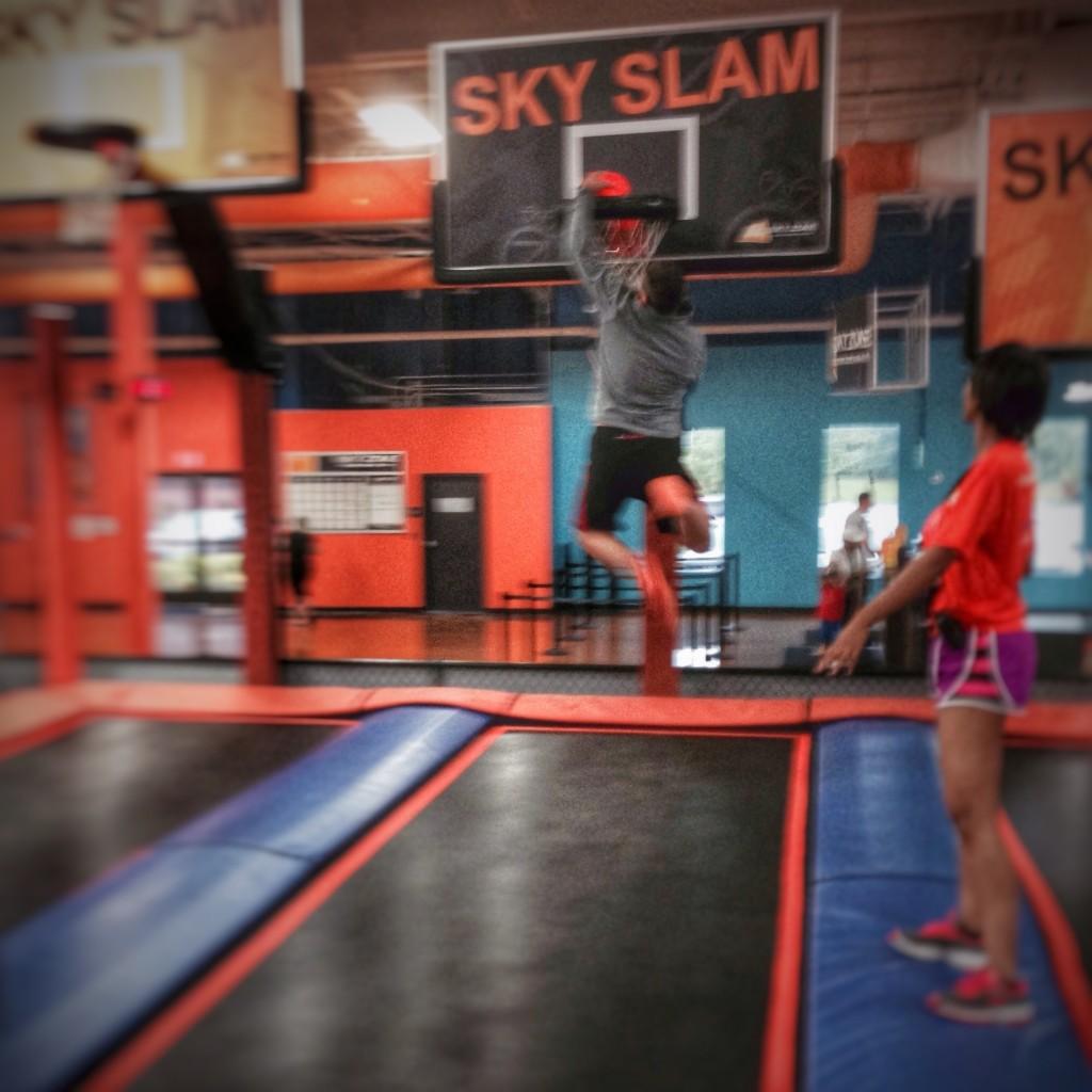 Dad crushes Sky Slam