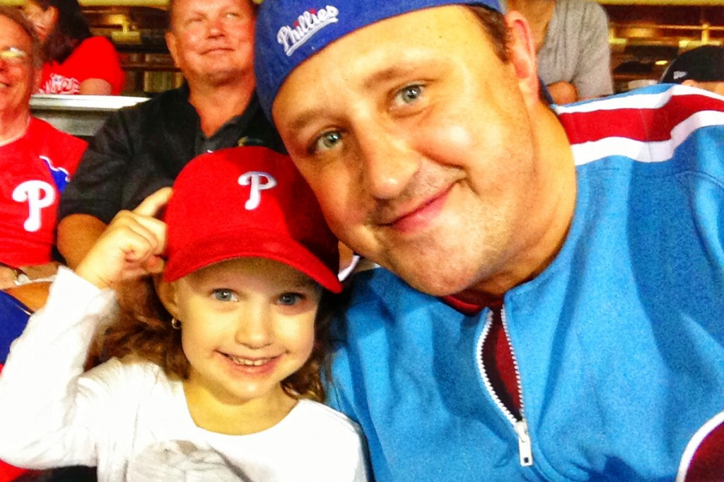 Daddy and Ava at her first Phillies game