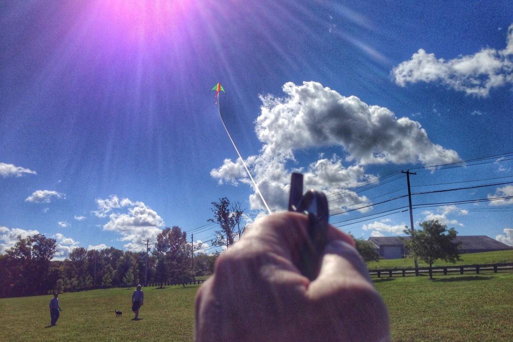 Flying a kite at molasses park