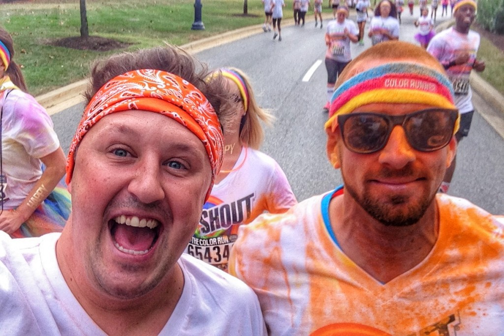 Adrian and Iggy color run