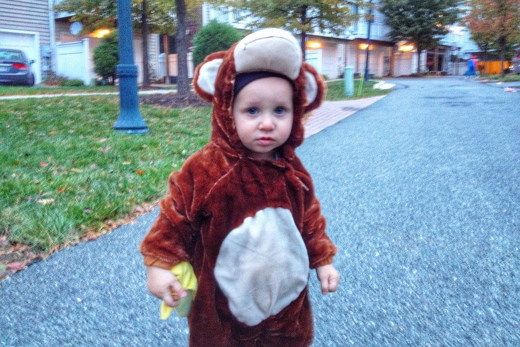 Charlie first halloween as a monkey