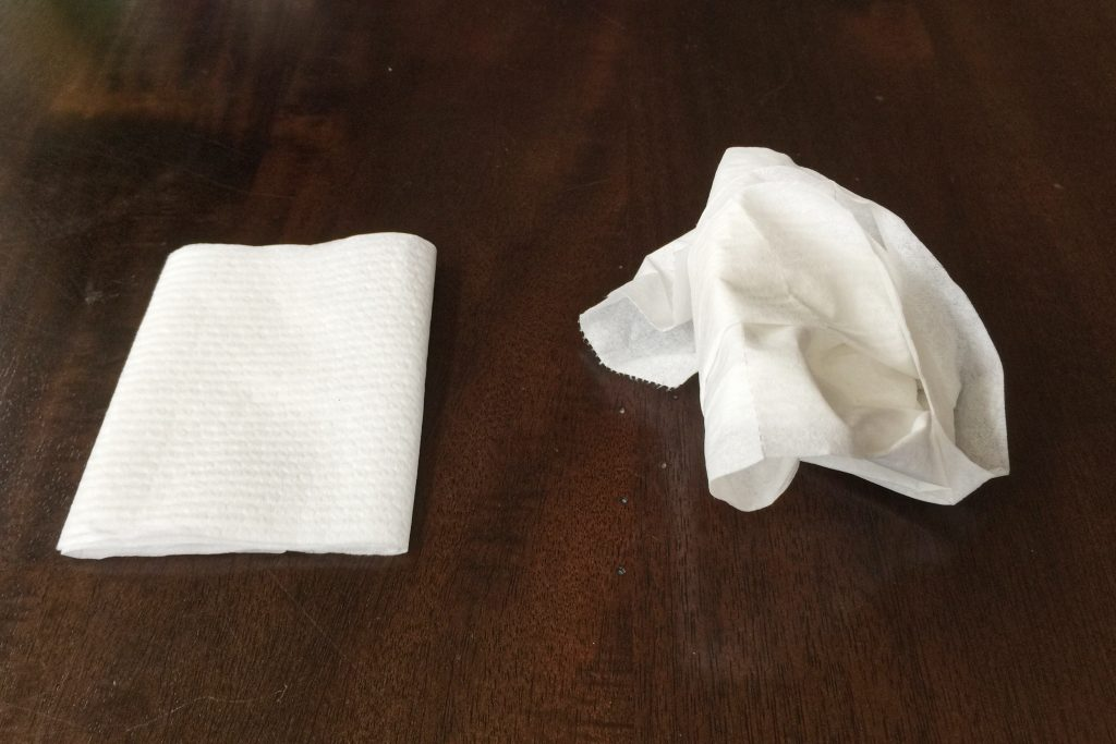 Fold versus wad for CHARMIN