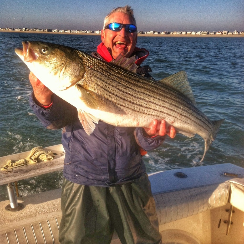 Bruce with Striper on the bay