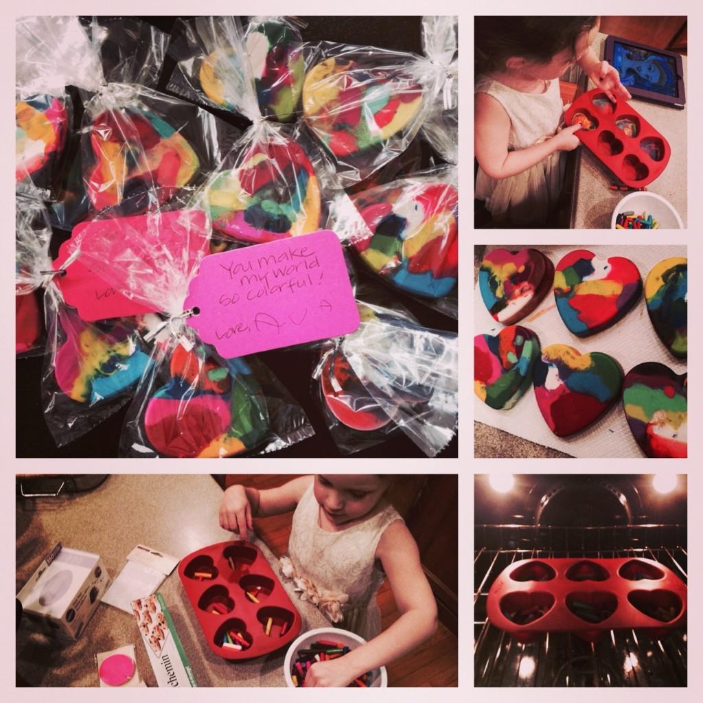 crayon hearts valentines