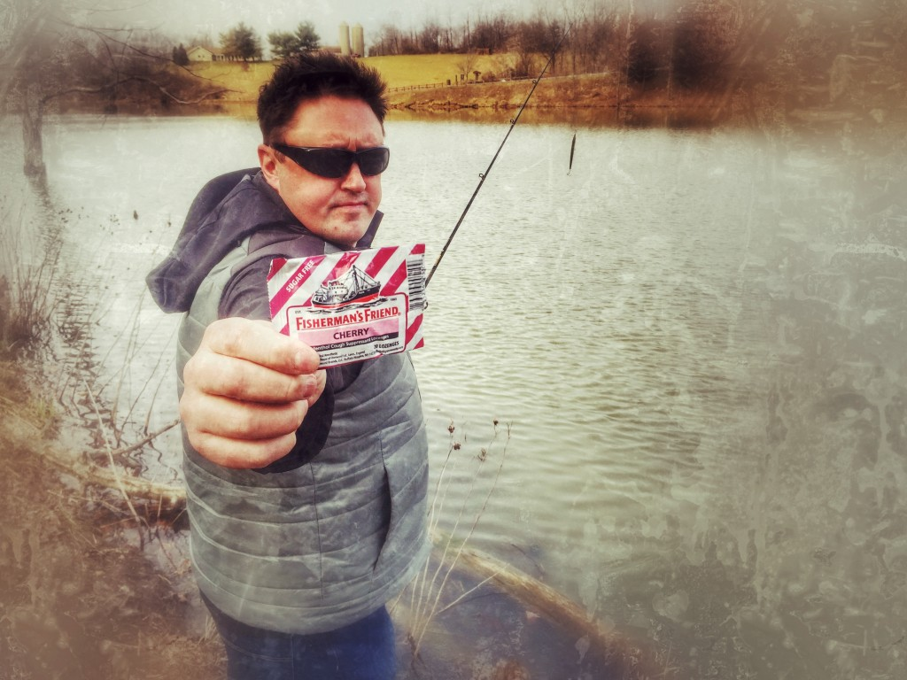 Adrian fishing for FISHERMAN'S FRIEND