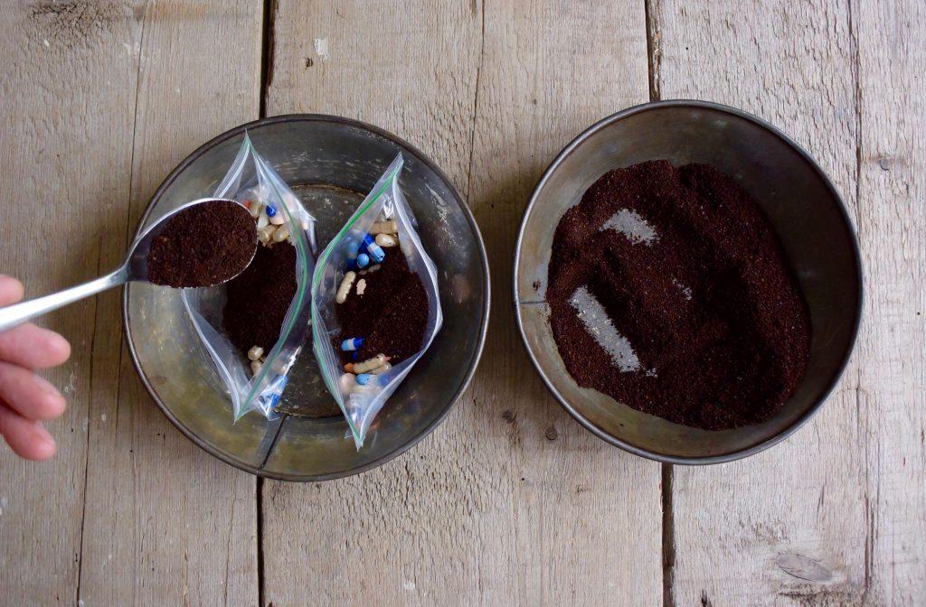 KYOTC APRIL COFFEE AND PILLS IN ZIPLOC