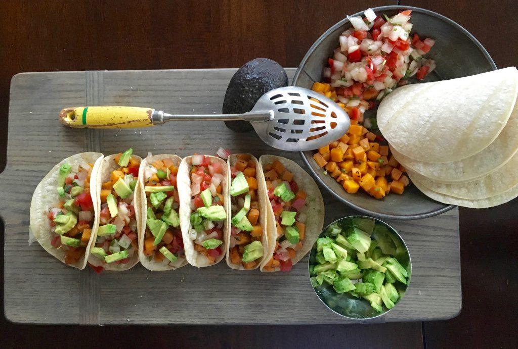 Sweet Potato Tacos Finished