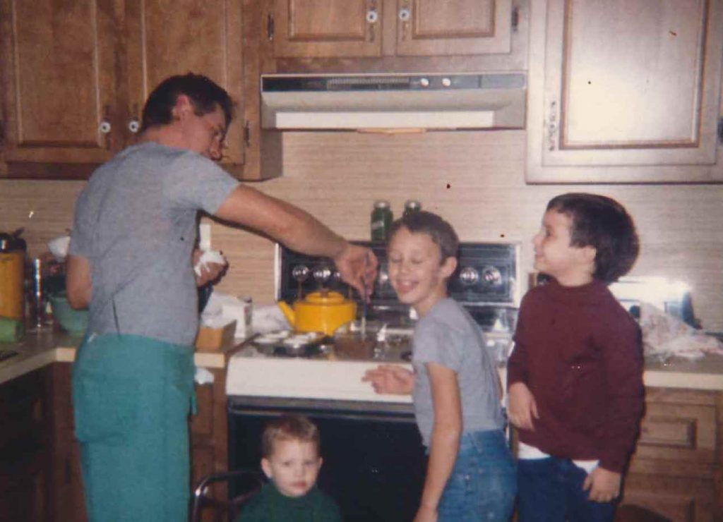 Dad cooks us dinner